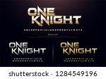 sport modern alphabet fonts.... | Shutterstock .eps vector #1284549196