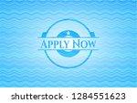 apply now water emblem...   Shutterstock .eps vector #1284551623