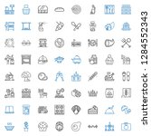 meal icons set. collection of... | Shutterstock .eps vector #1284552343