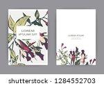 botanical wedding invitation... | Shutterstock .eps vector #1284552703