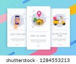 onboarding screens user... | Shutterstock .eps vector #1284553213