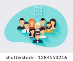 business team. business people... | Shutterstock .eps vector #1284553216