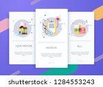 onboarding screens user... | Shutterstock .eps vector #1284553243