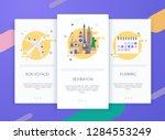 onboarding screens user...   Shutterstock .eps vector #1284553249