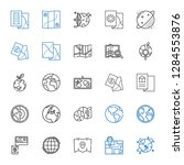 continent icons set. collection ... | Shutterstock .eps vector #1284553876