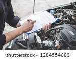 services car engine machine... | Shutterstock . vector #1284554683