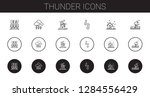 thunder icons set. collection... | Shutterstock .eps vector #1284556429