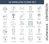 25 wireless icons. trendy...   Shutterstock .eps vector #1284558250