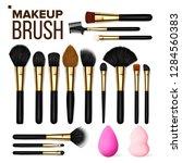 makeup brush set vector.... | Shutterstock .eps vector #1284560383