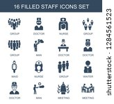 staff icons. trendy 16 staff...   Shutterstock .eps vector #1284561523