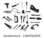 carpenter carpentry bricklayer... | Shutterstock .eps vector #1284563539
