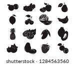 fruit tropical health food... | Shutterstock .eps vector #1284563560