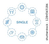 8 single icons. trendy single... | Shutterstock .eps vector #1284565186