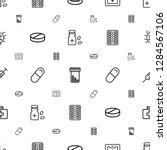 medication icons pattern... | Shutterstock .eps vector #1284567106