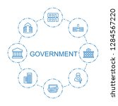 8 government icons. trendy...   Shutterstock .eps vector #1284567220