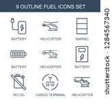 fuel icons. trendy 9 fuel icons.... | Shutterstock .eps vector #1284567340