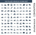 vehicle icons. trendy 100... | Shutterstock .eps vector #1284569506