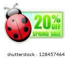 20 percentages off spring sale...