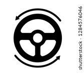 steering wheel vector icon | Shutterstock .eps vector #1284576046