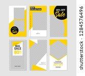 editable commercial instagram...   Shutterstock .eps vector #1284576496