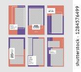 editable commercial instagram... | Shutterstock .eps vector #1284576499