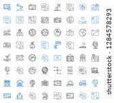 land icons set. collection of... | Shutterstock .eps vector #1284578293