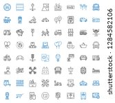 transport icons set. collection ... | Shutterstock .eps vector #1284582106