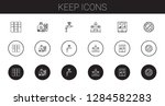 keep icons set. collection of... | Shutterstock .eps vector #1284582283