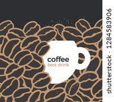 vector white cup of coffee... | Shutterstock .eps vector #1284583906