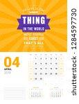 wall calendar template for... | Shutterstock .eps vector #1284597730