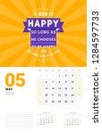 wall calendar template for may... | Shutterstock .eps vector #1284597733