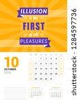 wall calendar template for... | Shutterstock .eps vector #1284597736
