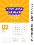 wall calendar template for... | Shutterstock .eps vector #1284597739