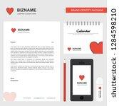 heart  business letterhead ...   Shutterstock .eps vector #1284598210