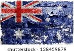 grunge flag | Shutterstock . vector #128459879