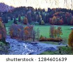 autumn pastures and farms in... | Shutterstock . vector #1284601639