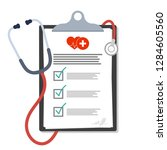 medical clipboard. blank paper... | Shutterstock .eps vector #1284605560