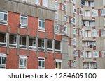 huge council housing blocks...   Shutterstock . vector #1284609100