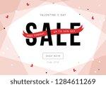 valentine's day sale banner... | Shutterstock .eps vector #1284611269