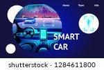 smart car interior. vector...   Shutterstock .eps vector #1284611800