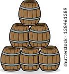 cartoon illustration of wooden... | Shutterstock . vector #128461289
