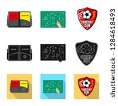 isolated object of soccer and... | Shutterstock . vector #1284618493
