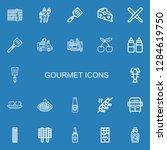 editable 22 gourmet icons for... | Shutterstock .eps vector #1284619750