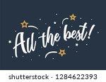 all the best lettering card ... | Shutterstock .eps vector #1284622393