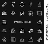 editable 22 pastry icons for... | Shutterstock .eps vector #1284622753