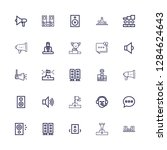 editable 25 debate icons for... | Shutterstock .eps vector #1284624643