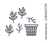 thin line icon weeding in the... | Shutterstock .eps vector #1284624739