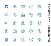 editable 25 tax icons for web... | Shutterstock .eps vector #1284625033