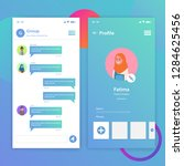 chat application ui template...