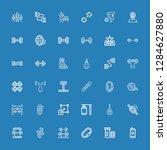 editable 36 strength icons for... | Shutterstock .eps vector #1284627880